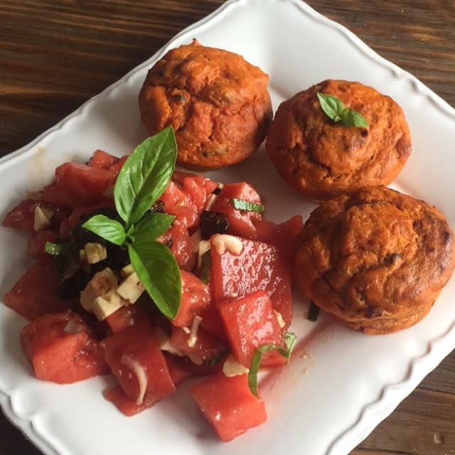 Muffin Thon, Tomate et Spiruline